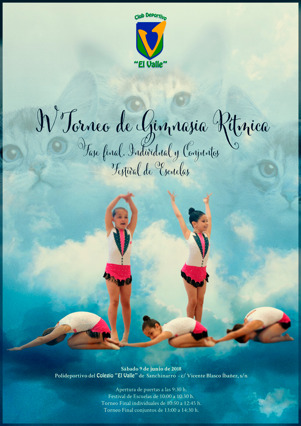 cartel fase final gimnasia rítmica club deportivo elemental el valle